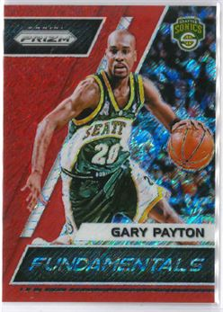 2017-18 Prizm Fundamentals 1st Off the Line Red Shimmer Prizms #5 Gary Payton