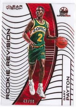 2015-16 Clear Vision Red Rookie Revision #125.2 Gary Payton