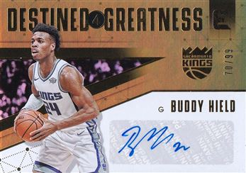 Buddy Hield 2017-18 Panini Essentials Destined for Greatness Signatures #21 /99