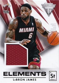 LeBron James 2013-14 Panini Titanium Elements Jerseys #32