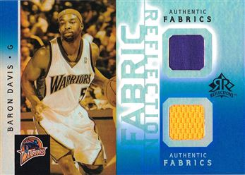 Baron Davis 2005-06 Reflections Fabrics Dual Swatch Blue #BD /25