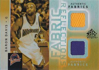 Baron Davis 2005-06 Reflections Fabrics Dual Swatch Gold #BD /5