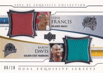 Baron Davis 2004-05 Exquisite Collection Dual Jerseys #FD Steve Francis/Baron Davis /10