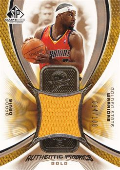 Baron Davis 2005-06 SP Game Used Authentic Fabrics Gold #BD /100