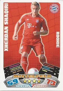 Panini FC Bayern München 2012//13 Xherdan Shaqiri Sticker 90