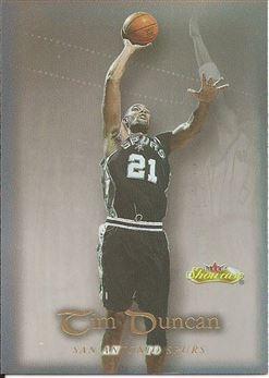 2000-01 Fleer Showcase #40 Tim Duncan