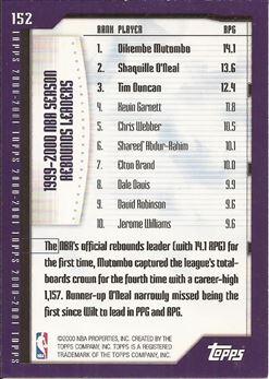 2000-01 Topps #152 Dikembe Mutombo/Shaquille O'Neal/Tim Duncan SL