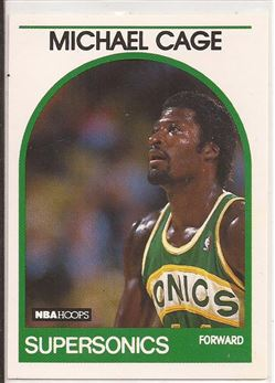 1989-90 Hoops #245 Michael Cage UER/(Picked in '85, should say '84)