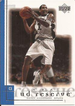 2000-01 UD Reserve #75 Derek Anderson