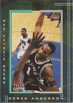 2001-02 Fleer Genuine #72 Derek Anderson