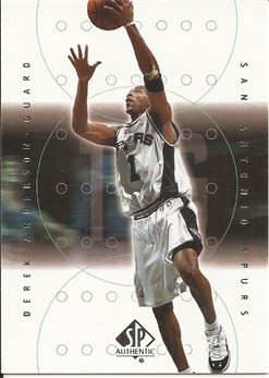 2000-01 SP Authentic #75 Derek Anderson