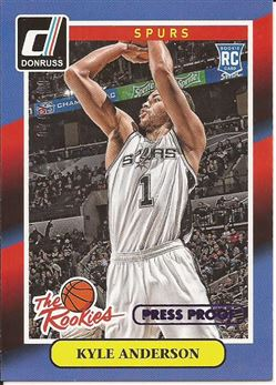 2014-15 Donruss The Rookies Press Proofs Purple #21 Kyle Anderson /199