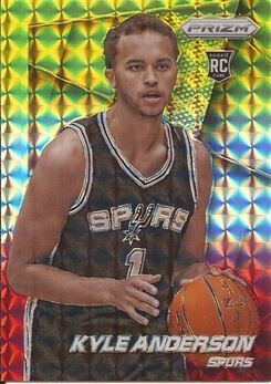 2014-15 Panini Prizm Prizms Yellow and Red Mosaic #275 Kyle Anderson