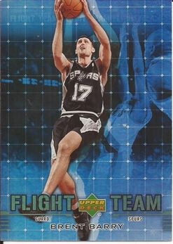 2006-07 UD Reserve Flight Team Gold #BB Brent Barry