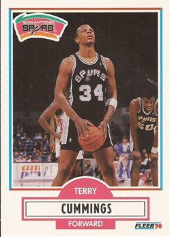 1990-91 Fleer #170 Terry Cummings