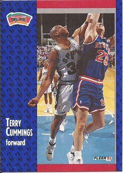 1991-92 Fleer #184 Terry Cummings