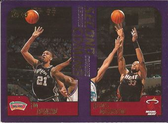 2000-01 Topps #289 Tim Duncan/Alonzo Mourning SC