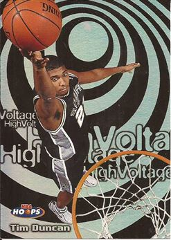 1997-98 Hoops High Voltage #HV15 Tim Duncan