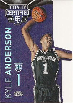 2014-15 Totally Certified Platinum Mirror Purple Die Cuts #165 Kyle Anderson