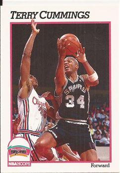 1991-92 Hoops #189 Terry Cummings