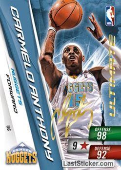 # U 06 Carmelo Anthony Ultimate Card Nuggets