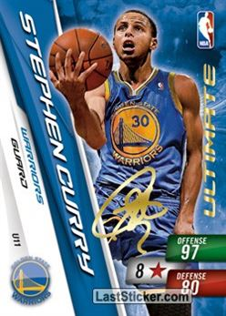 # U 11 Stephen Curry Ultimate Card Warriors