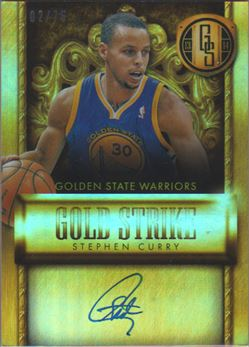 2013-14 Panini Gold Standard Gold Strike Signatures #4 Stephen Curry/75