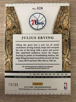 2013/14 Panini Preferred Julius Erving SL JSY AU/35 #328