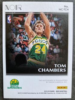 2019/20 Panini Noir Color Autographs Tom Chambers #30 NC-TCH