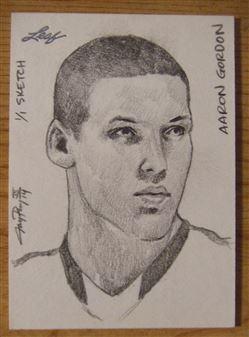 2014 Leaf Sketch Card Aaron Gordon