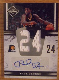 2011/12 Limited Jumbo Jersey Numbers Signatures Paul George (Pacers) #13