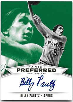 2013-14 Panini Preferred Green #548 Billy Paultz PS AU