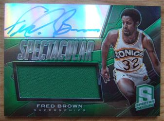 2013/14 Panini Spectra Spectacular Swatch Signatures Fred Brown #15