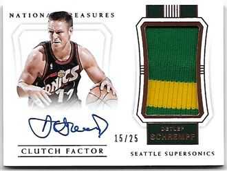 2017/18 Panini National Treasures Clutch Factor Jersey Autographs Bronze Detlef Schrempf #12