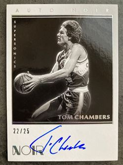 2019/20 Panini Noir Black and White Autographs Tom Chambers #30 NBW-TCH