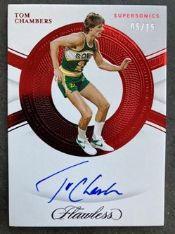 2019/20 Panini Flawless Excellence Signatures Ruby Tom Chambers #7 ES-TCH