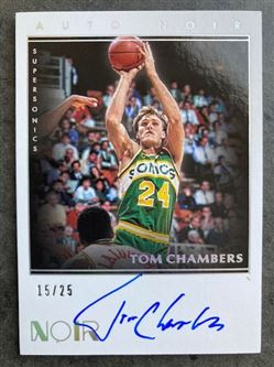2019/20 Panini Noir Color Autographs Tom Chambers #30 NC-TCH