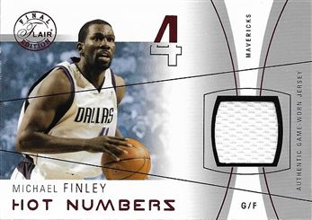 2003-04 Flair Final Edition Hot Numbers Jerseys 175 #MF Michael Finley
