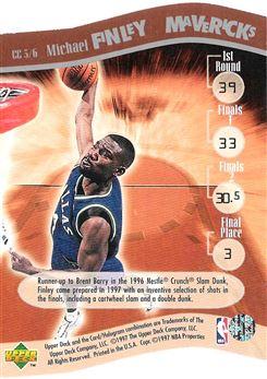 1997-98 Upper Deck Nestle Slam Dunk Contestants #CC3 Michael Finley