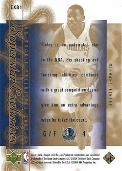 2003-04 Upper Deck Rookie Exclusives Superstar Exclusives #EX81 Michael Finley