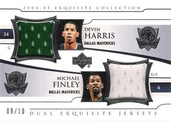 2004-05 Exquisite Collection Dual Jerseys #HF Devin Harris/Michael Finley