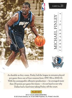 2012-13 Elite Series Turn of the Century #23 Michael Finley