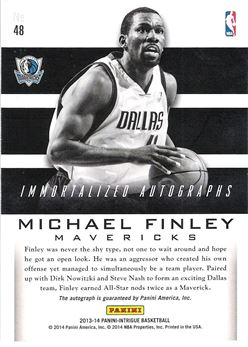 2013-14 Panini Intrigue Immortalized Autographs Gold #48 Michael Finley