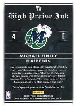 2013-14 Panini Crusade High Praise Ink Silver #19 Michael Finley