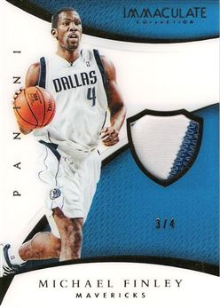 2014-15 Immaculate Collection Patches #28 Michael Finley