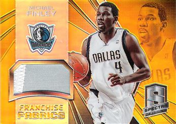 2014-15 Panini Spectra Franchise Fabrics Prizms Gold #FRAMF Michael Finley