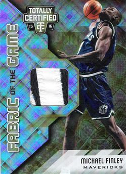 2015-16 Totally Certified Fabric of the Game Materials Gold #67 Michael Finley