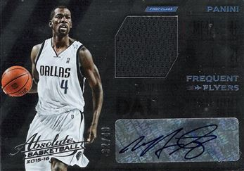 2015-16 Absolute Memorabilia Frequent Flyer Material Autographs #6 Michael Finley