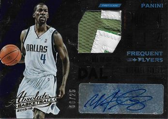 2015-16 Absolute Memorabilia Frequent Flyer Material Autographs Prime #6 Michael Finley