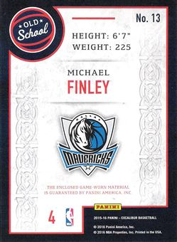 2015-16 Panini Excalibur Old School Swatches #13 Michael Finley
